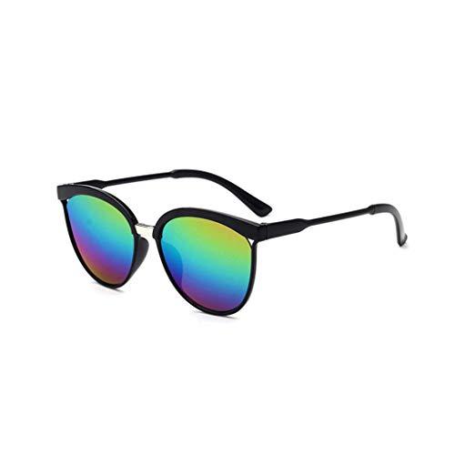 EUCoo Modische Sonnenbrille, AusgehöHlte Big Box-Sonnenbrille, Reflektierende Uv-Schutzbrille(H)