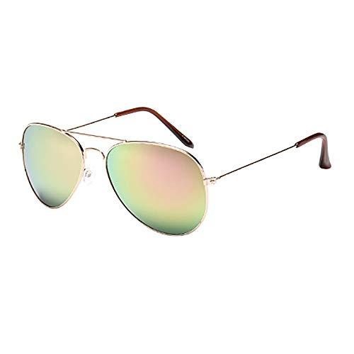 ☀ Retro Espejo Aviador Gafas de Sol Lentes Teñido Brillantes Anteojos Para Mujer Hombre UV400, Deportes al Aire Libre Ciclismo Pesca Golf-URIBAKY