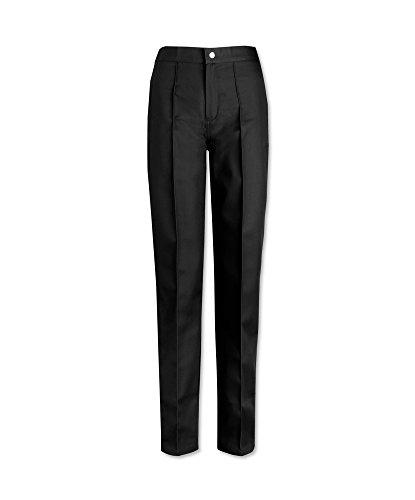 Alexandra stc-w40bk-20t Damen Flache Front Hosen-, einfache, hoch, 67% Polyester/33% Baumwolle, Größe: 20, schwarz (Front Hosen Flache)