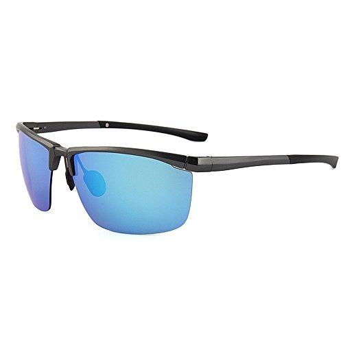 Ppy778 Sonnenbrille im Aviator-Stil (Blaue Linsen), UV400-Schutz, Designer-Unisex-Farben (Color : Green)
