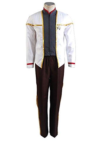 nsurrection NEM Nemesis Voyager Captain Siskoesis Weiß Mess Uniform Cosplay Kostüm Herren XXXL ()