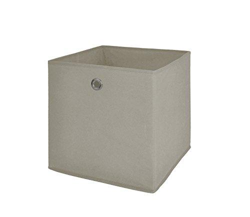 Möbel Akut Faltbox 4er Set in beige, Aufbewahrungsbox für Raumteiler oder Regale