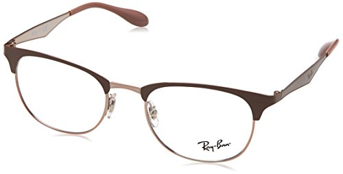 Ray-Ban Unisex-Erwachsene 0RX 6346 2973 50 Brillengestelle, Braun (Copper On Topo Light Brown)