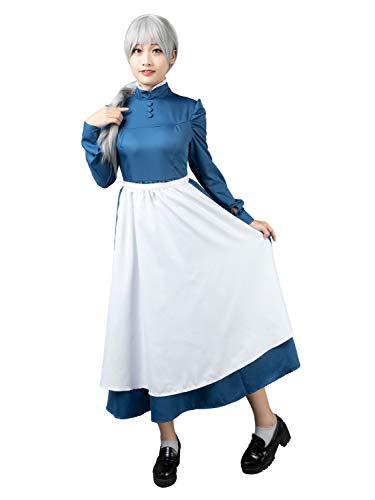 CosFantasy mp004181 Sophie Hatter Cosplay Kostüm blau - Mehrfarbig - Damen - Howl's Moving Castle Cosplay Kostüm