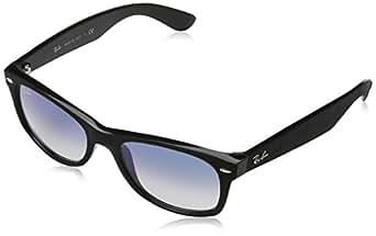 Ray Ban RB2132 New Wayfarer Sonnenbrille 52 mm, Black Alcantara, Medium (Herstellergröße: 52)
