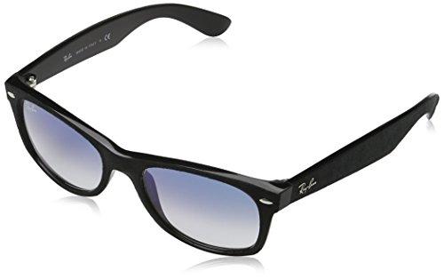 Ray Ban RB2132 New Wayfarer Sonnenbrille 52 mm, Black Alcantara, Medium (Herstellergröße: 52) (Gafas De Sol Ray Ban)