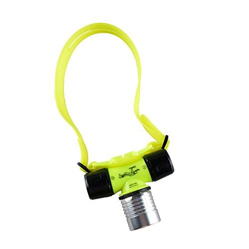 Homelx Phares de plongée de l'éblouissement de LED, Aluminium de qualité aéronautique Ajustement Libre 90 ° phares imperméables épais de Joint magnétique d'ajustement
