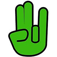 Autoaufkleber Sticker Finger Shocker Hand grün Aufkleber