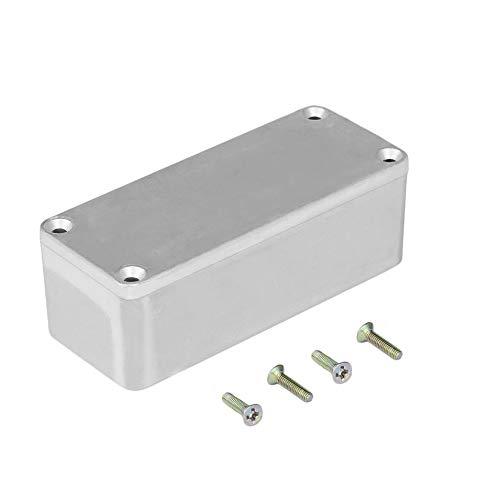 HermosaUKnight Tragbare Aluminium-Musikinstrumenten-Kit-Kabel-Stomp-Box-Effektpedal-Silber