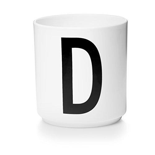 Design Letters - Becher - Buchstabentasse - Buchstabe: D - Porzellan - Arne Jacobsen