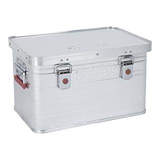 STIER Alubox, Aluminium-Kiste 30L, Staub- und spritzwasserresistent, Gummidichtung, 2 Klapphandgriffe, Transportkiste