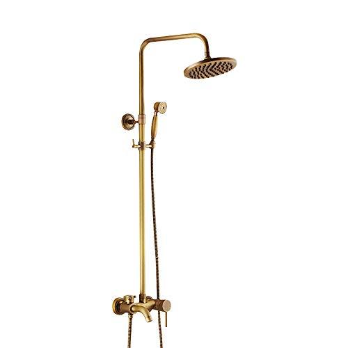 Duschsystem Antike Mittellage Keramisches Ventil Bath Shower Mixer Taps Messing Single Griffe DREI Löcher
