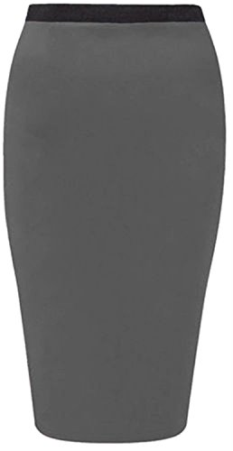 neuen Frauen plus size Jersey Stretch midi bodycon Bleistift Casual Röcke Charcoal