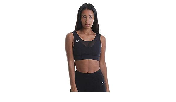 XS-L Black//Pink RIPT Performance Ladies Workout Training Gym Padded Bra Contrast Sports Crop Top