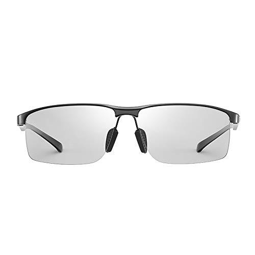 Farbwechselnde Sonnenbrillen Polarisierte Sonnenbrillen mit doppeltem Verwendungszweck, schwarz und weiß