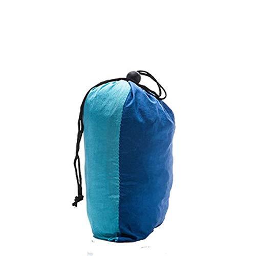 Neueste Hängematte Camping + Moskitonetz Outdoor Camouflage Netting Bett Hängematten 290 * 140 + Wind Seil Nägel Max 300KG Schwarz, Blau und Himmelblau - Schwarz Netting-bett