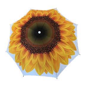 Lively Moments Sonnenschirm gelbe Sonnenblume/Strandschirm/Gartenschirm ca. 180 cm UV Schutz 50+