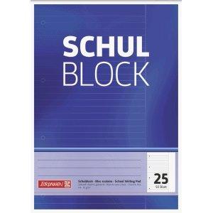 Brunnen 10 x Schulblock A4 liniert Lineatur 25 4-fach gelocht 50 Blatt