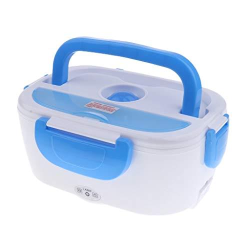 DRFH Auto Elektrische Lunchbox Elektrische Heizung Isoliert Aufladung Lunchbox Heißer Reiskocher Multifunktionale 12 v (Farbe : Blau)