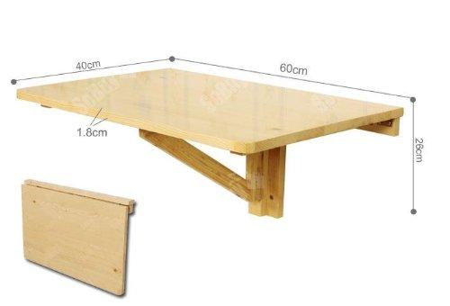 Rustic Wood Folding Flip Top Dining Table