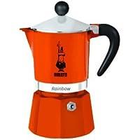 Bialetti 4992 Rainbow Machine à Expresso pour 3 Tasses Aluminium/Plastique Orange 30 x 20 x 15 cm