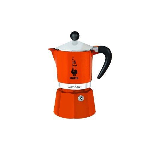 "Bialetti 4963 Espressokocher\""Rainbow\"" für 6 Tassen in Aluminium, Rot, 30 x 20 x 15 cm"