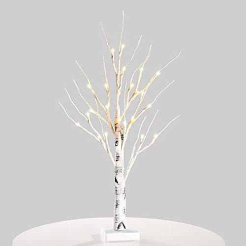 Nachtlichttischlampe Silber Birke Led Licht Nachtlicht Tisch Licht Indoor Baum Tisch Lampe Festival Weihnachten Dekor - Büro-schreibtisch, Birke
