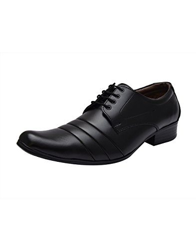 Sir Corbett Men's Pointed Black Synthetic Leather Formal Shoes [2011] - 8 UK/India