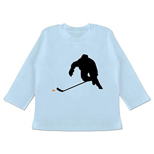 Sport Baby - Eishockey Sprint - 6-12 Monate - Babyblau - BZ11 - Baby T-Shirt Langarm