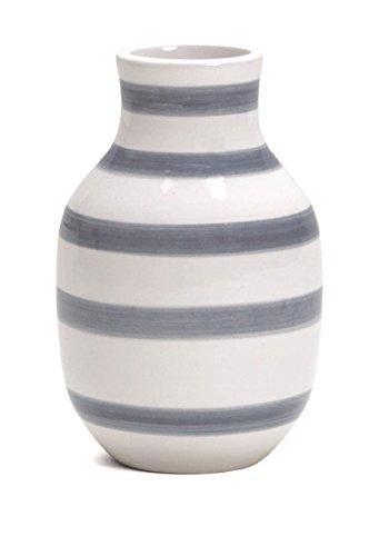 Kähler - Omaggio Vase - Keramik - weiß/hellblau - Höhe 12, 5 cm Ø 8 cm