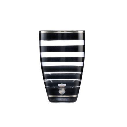 Goebel CHA G VA Stripes 19 Verre Noir/Blanc 12