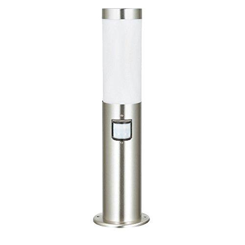 Stand Beleuchtung Sensor Edelstahl Lampe weiß 1-flammig Terrasse Rasen Hilight 103109