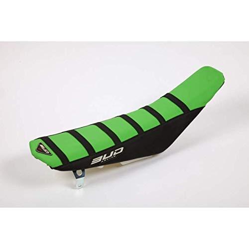 BUD RACING - Housse Selle Full Compatible Kawasaki 125 250 Kx 03-08 + 250 Kxf 04-05 Vert Noir