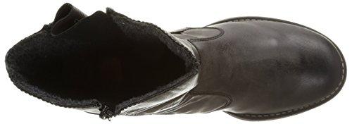 Rieker - 70881, Stivali Donna Grigio (Fumo/wine)