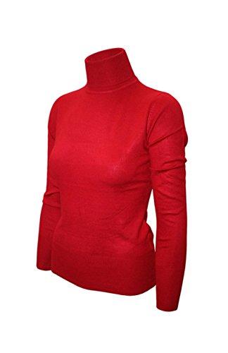 2LUV Damen Strickjacke Gr. S, Rot - Red1 (Pullover Cardigan Golf Style)