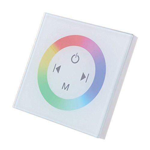 TOOGOO(R) Dimmer Touch Schalter Kontroller Lichtschalter Wandeinbau fuer RGB LED Lampe (Installieren Dimmer Lichtschalter)