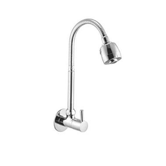 10x Sink Cock Turbo Flexible Double Chrome Plated Foam Flow Bathroom Fittings Taps and Faucets (15 mm)
