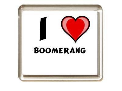 Ich liebe Boomerang Kühlschrankmagnet (Vorname/Zuname/Spitzname)