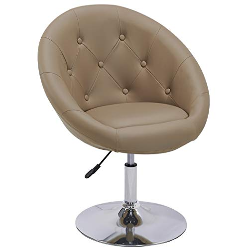Duhome Sessel Cappuccino höhenverstellbar Kunstleder Clubsessel Coctailsessel Loungesessel - Typ 509A