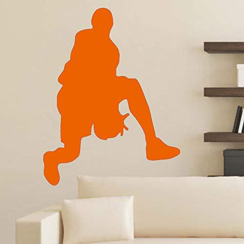 Basketball wandaufkleber abnehmbare vinyl tapete wand kinderzimmer sport raumdekoration ~ 1 46 * 59...