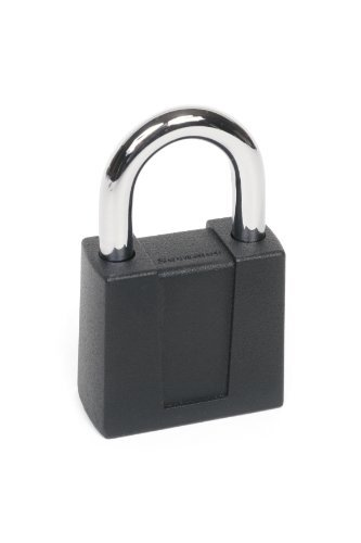 Sesamee K5003/4 4 Dial Bottom Resettable Combination Padlock with 1-Inch Hardened Steel Shackle and 10,000 Potential Combinations by Sesamee