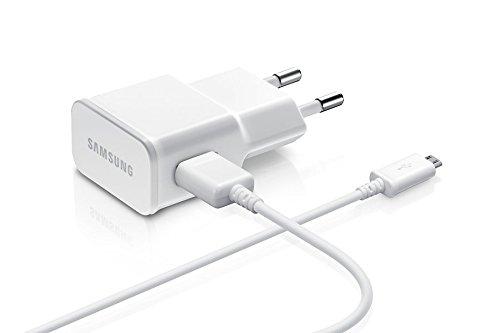 Originale Samsung 2in1Set di ricarica Caricatore 220V USB Adattatore alimentatore di rete 2A/2000mA-ETA-U90EWE-Cavo di ricarica bianco + Cavo dati micro USB-bianco-per Samsung Galaxy S6EDGE PLUS
