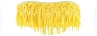 L*Space - Top de traje de baño tipo bandeau con flecos amarillos Dolly Daffodil