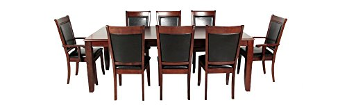 Afydecor Eight Seater Wooden Dining Set - Brown