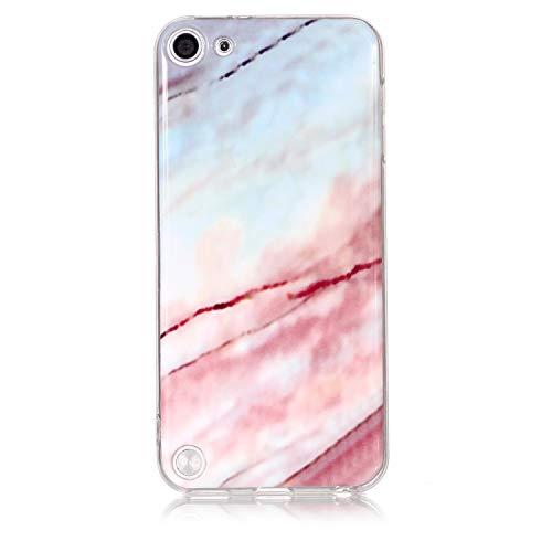 NEXCURIO Coque iPod Touch 6/5Marbre, Coque Silicone TPU Souple Antichoc  avec Motif Peinture Design Étui Protection Housse pour Apple iPod