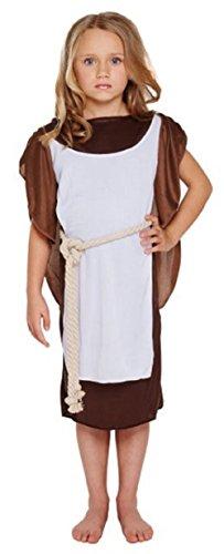 (Mädchen Wikinger Mädchen historisch büchertag Kostüm Kleid Outfit 4-12 Jahre - Braun, Braun, 4-6 Years)