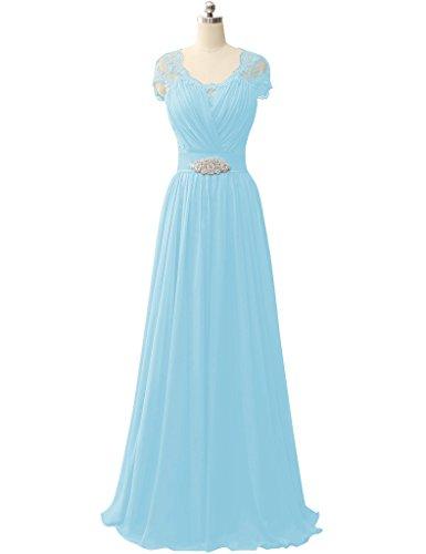 HUINI Damen Modern Kleid Blau
