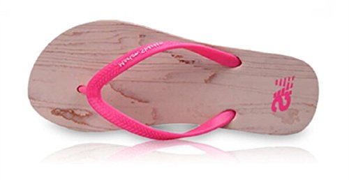 Belloo Damen Strand Beach Pantoletten Sandalen Zehentrenner Flip Flops, 3 Farbe Rot