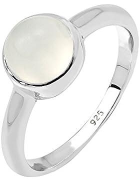 Elli Damen-Bandring 925 Sterling Silber Mondstein weiß