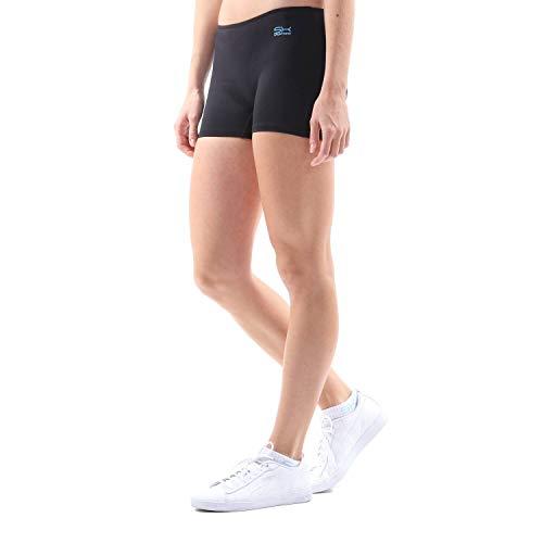 Sportkind Mädchen & Damen Tennis, Volleyball, Sport Shorts, schwarz, Gr. 152
